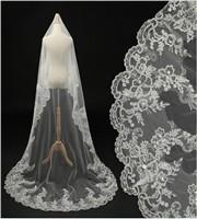 White-Ivory-Cathedral-Wedding-Veils-Long-Lace-Edge-Bridal-Veil-Mantilla-Wedding-Veil-Sequined-Bridal-Wedding