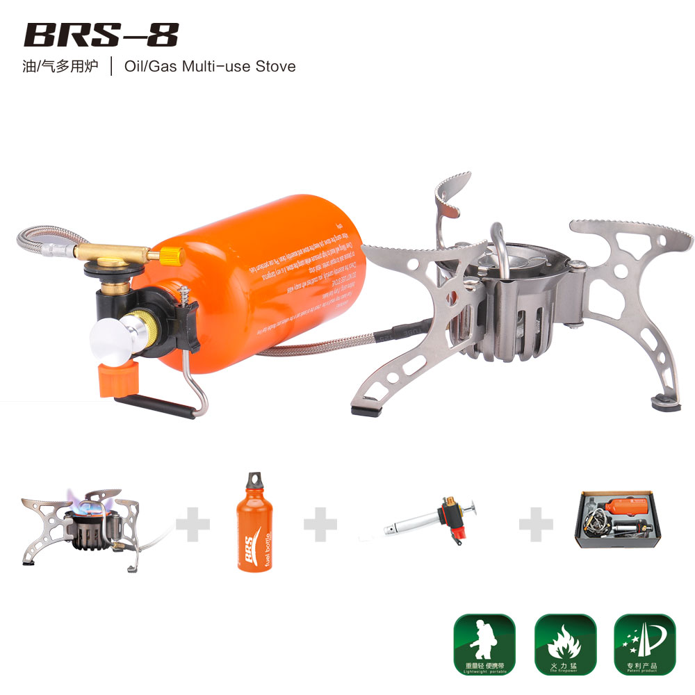 BRS Portable Oil Gas Multi Fuel Stove Outdoor Picnic Backpacking Hiking Camping Gas Stove Gasoline Oven brs-8 цена