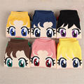 Anime Cartoon Sock Sailor Moon Month Female Cute Socks Harajuku Cotton Kiss Woman Sokken Ankle Meias Sox