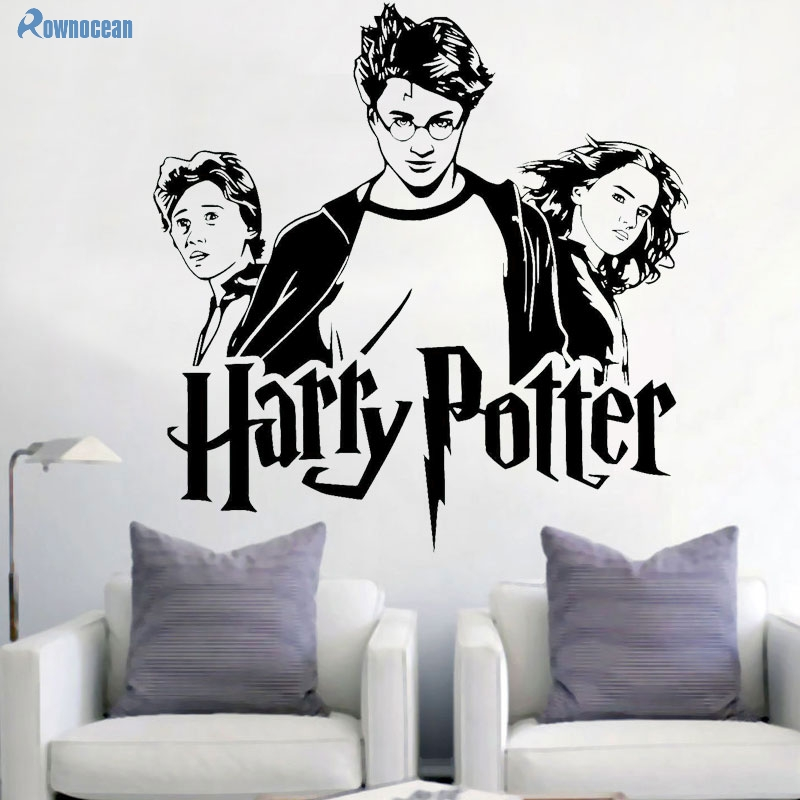 Harry Potter Retrato Etiqueta de La Pared Hermione Granger Ron Weasley Wall Art Sticker Decoración Del Hogar Arte Mural de Pared Para Niños H-01