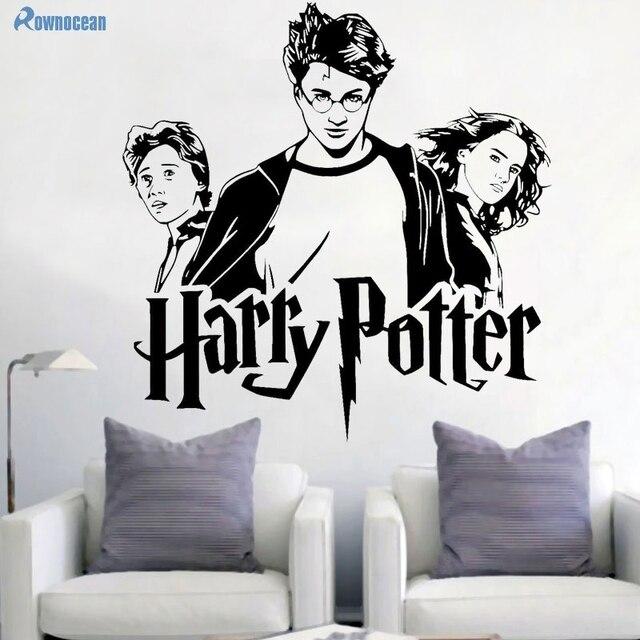 harry potter portrait wall sticker hermione granger ron weasley wall