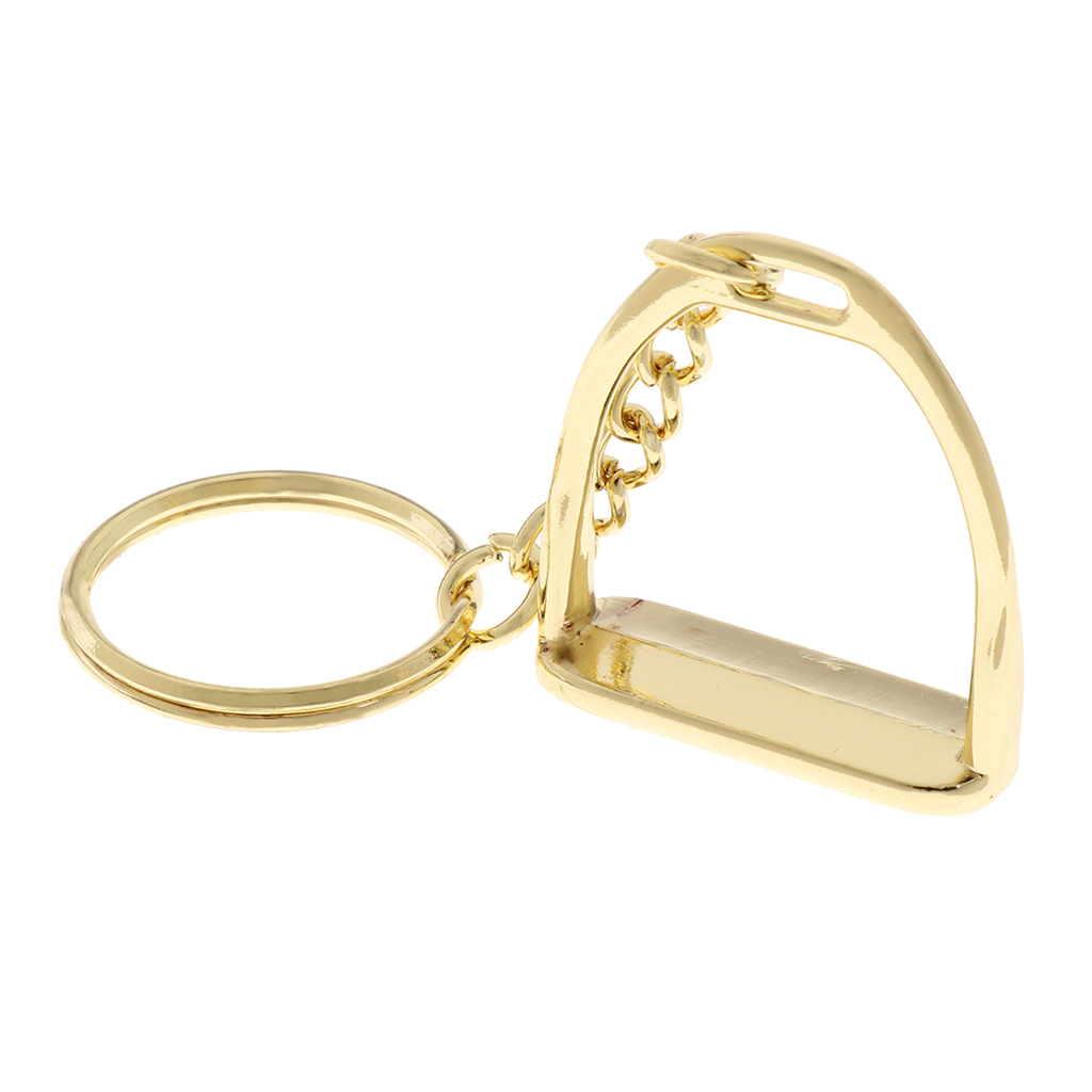 Lightweight Zinc Alloy Equestrian Stirrup Keyring Hanging Ornament Keyfob Keychain For Women Men Business Bag Hand Bag