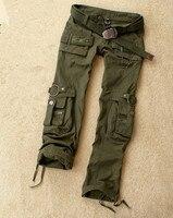 Camouflage Casual Women Loose Trousers Multi Pocket Cargo Pants Military Men Plus Size Army Green Sportswear