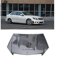 C Class Carbon fiber Standard type engine hood cover bonnet hoods with Car body kit for Mercedes Benz W204 12 UP use