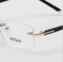 Chegada nova Silhueta Armações De óculos de Titânio Para Homens E Mulheres  Sem Aro Óculos de Armação De Titânio Óculos de Leitur. ff9af00633