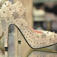 2016 frühling und herbst Spitze 4 Zoll ferse plattform hochhackigen Satin White Wedding Schuhe mode frauen Party Prom kleid Schuhe