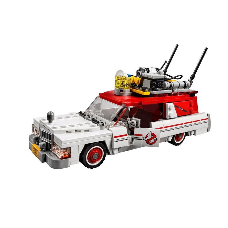 Lepin 16032 586Pcs Genuine Movie Series The Ghost Busters Ecto-1&2 Ghost Car Set Building Blocks Bricks Toys For Children Gift lepin 16032 586pcs new genuine movie series the ghostbusters ecto 1
