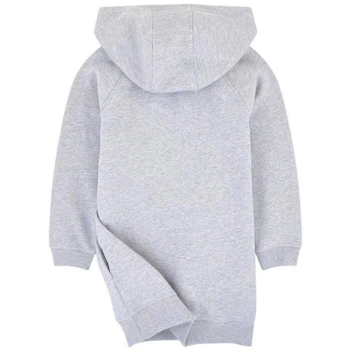 Children Hoodie Sweatshirt For Boys Girls Outerwear Tops Grey Coton Soft Sweatshirt Hooded Clothes in stock hooded pocket curved hem sweatshirt dress