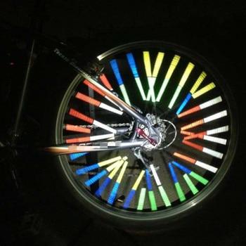 12 Pçs / lote Aro da Roda de Bicicleta Falou Montar Clipe Tubo de Luz de Advertência Tira Refletor Refletor Reflexivo 75mm Segurança Rodoviária 1