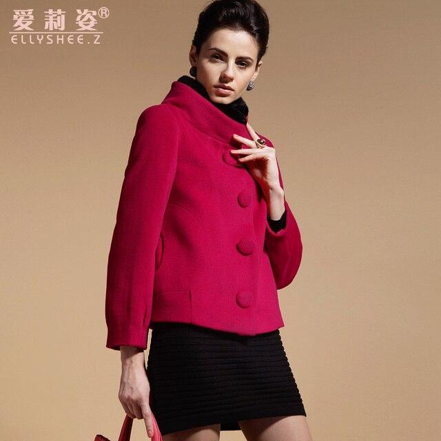 40cc70dcaa Outono e inverno de lã outerwear feminino curto projeto gola de pele casaco  outerwear feminina outono