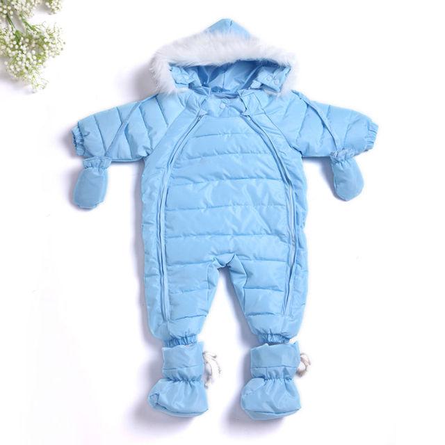 2017 chirldren's clothing muchacha muchachos pato abajo chaquetas abrigos bebé traje para la nieve niñas recién nacidas capucha ropa trajes de nieve infantil outwear