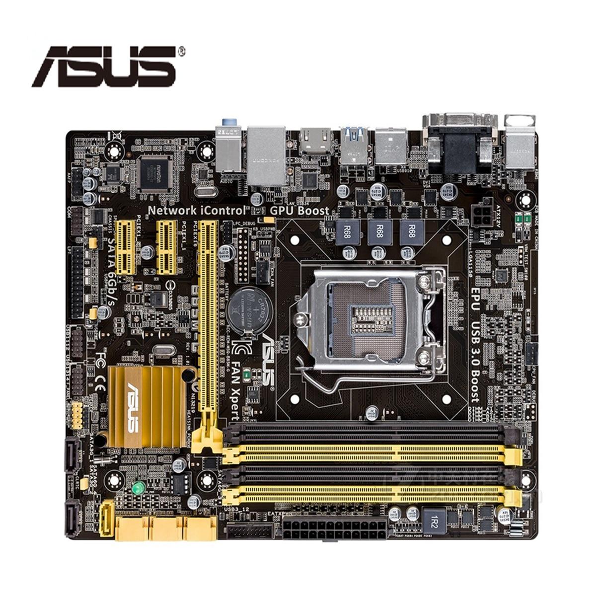 LGA 1150 ASUS B85M G Motherboard M ATX B85M G Systemboard B85M DDR3 For Intel B85 32GB Desktop Mainboard USB 3 SATA3 B85MG Used