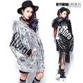 Winter Jacket Women Fashion Letter Pattern Coats Hooded Parka Manteau vetement femme miegofce  1444