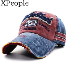 XPeople 1969 Distressed Vintage Baseball Cap Hat Meshed Adjustable Cotton Trucker Birthday Gifts