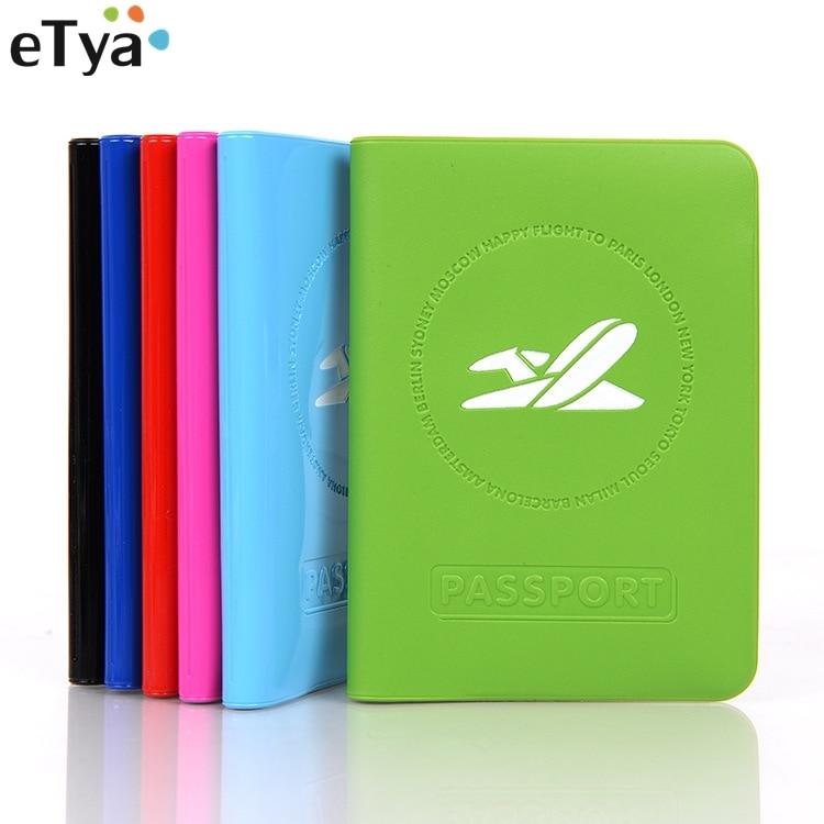 eTya Multifunction Travel Passport Cover Women Men PVC Passport Holder ID Card Bag Fashion Protective Card Ticket Organizer