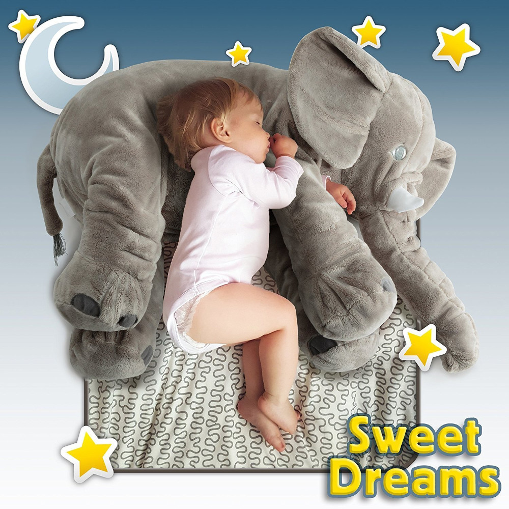 buy cute home deco large stuffed elephant pillow baby toys animals plush. Black Bedroom Furniture Sets. Home Design Ideas