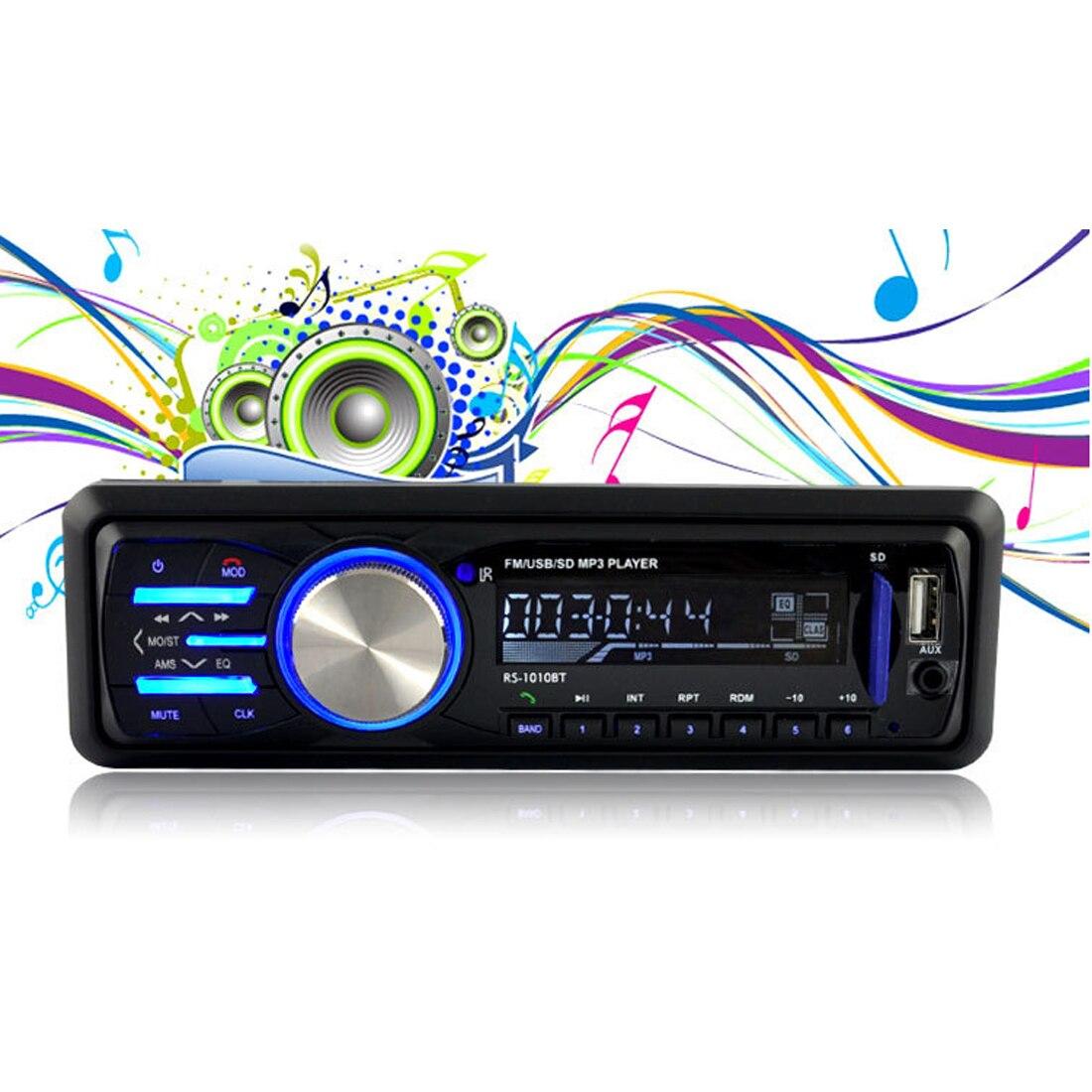купить Marsnaska 12V Car Stereo FM Radio MP3 Audio Player Support Bluetooth Phone with USB/SD MMC Port Car Electronics In-Dash 1 DIN по цене 1800.57 рублей