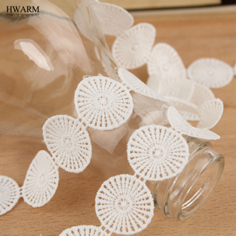 5yard white lace fabric ribbon wedding decoration Decorative festival gift trim baby show lace hollow milk silk embroidery lace in Lace from Home Garden