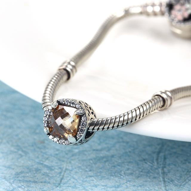 5234372dd42 US $5.1 50% OFF|Authentic Silver Beads Fit Pandora Charms Bracelets  Original 925 Sterling Silver Charm Beads DIY Jewelry Making Christmas Gift  -in ...