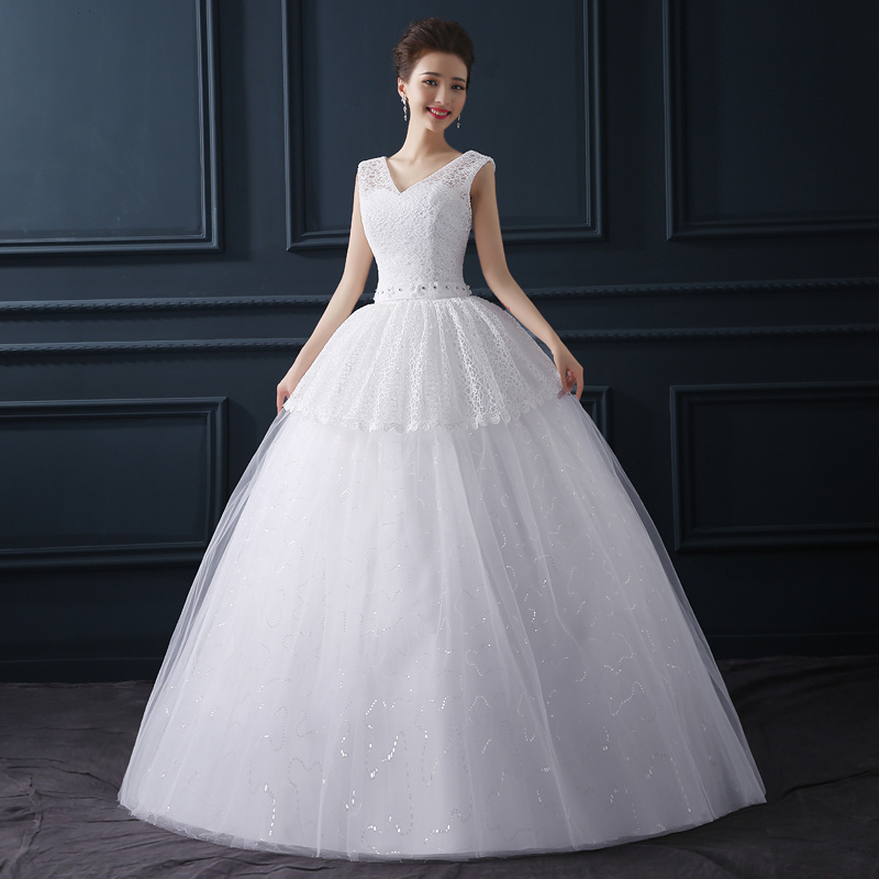 Simple Wedding Dresses Plus Size: Wintty Long Simple Wedding Dresses Plus Size 2017 Women