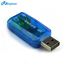 USB Sound Card External 5.1-Channel w/3.5mm Headphone and Microphone Jack Interface,Computer Stereo Mic Audio USB Converter(China)
