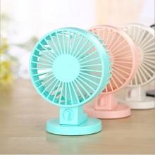 Portable Mini USB Desk Fan Creative Home Office ABS Electric Fans Silent Desktop Fan With Double Side Fan Blades 100x7x130mm
