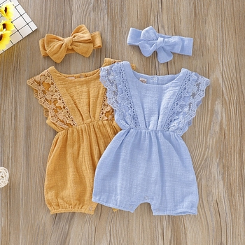 Pakaian Rompers Lace Baby  4