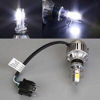 4000LM 34W H6 H4 COB LED Bulb Motorcycle Moto Headlight Fog Light Lamp White Bright