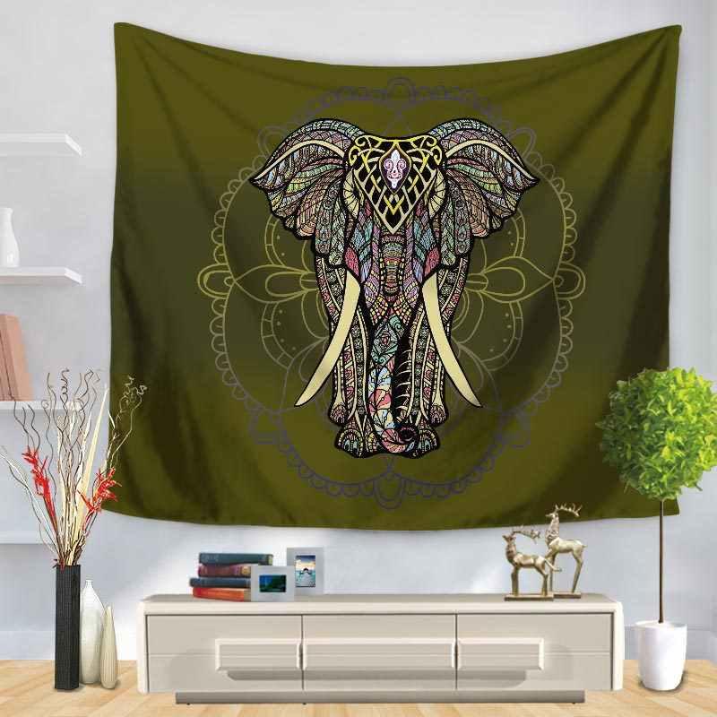 Decorativo Pendurado Na Parede de casa Colcha Elefante E Mandala Tapeçaria Tapete Retângulo Padrão de Impressão GT1256