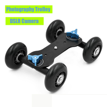 Magic Arm Ball high quality Head Video Photography Trolley Rail Car Desk Slide Stabilizer For DSLR Camera  Camcorder