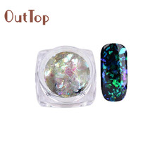 Nail Art Gorgeous Chameleon Mirror Powder Manicure Chrome Pigment Glitters 0.2g 17Apr29