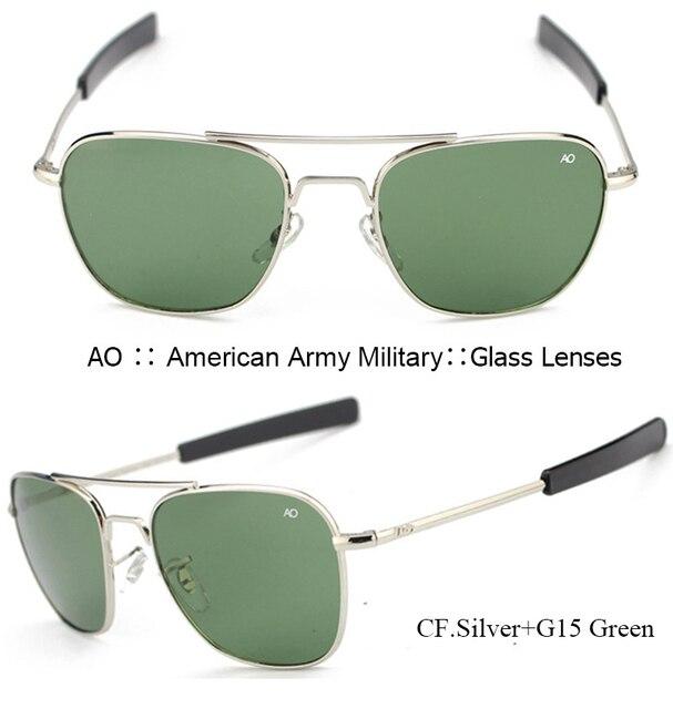 91feea62baf ... IVSTA Pilot Sunglasses Men American Army Military Brand Driving AO Sun  Glasses For Male Glass Lenses ...