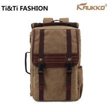 Genuine Kaukko Canvas Backpacks Sac Homme Femme Women Laptop Bag women bag Black Waterproof School Bags Creeper Backpack
