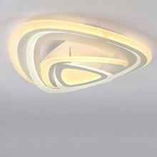 цена на modern led acrylic ring ceiling light lamp with remote control lampara techo living room bedroom lights lustre home lighting