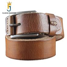 Quality Whole Head Leather Pure Cow Skin Belt Leisure Belts Man Tide Pin buckle Retro Clasp Style Cowhide Belts for Men N17FJ101