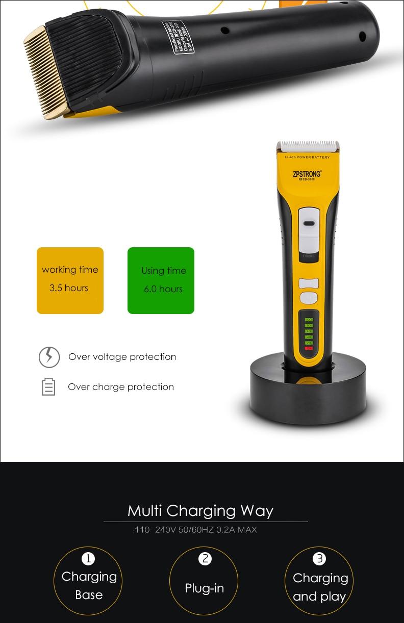 Máquina de cortar cabelo profissional, 100-240v aparador