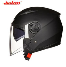 JIEKAI Motorcycle Helmet Men Motorbike Motocross Casco Moto For Racing Half Face Crash Dual Lens