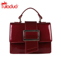 2018 Fashion Women S Handbags Solid Patent Leather Women Luxury Handbags Ladies Casual Shoulder Messenger Mummy