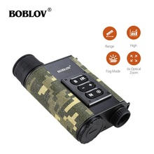Boblov LRNV009 200M IR Night Vision 500M Range Finder 6x Optical Zoom Multifunction Infrared Rangefinder Hunting Outdoor lomon черный 200m 500m