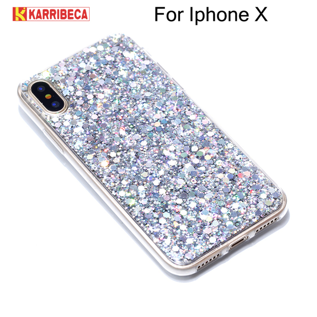 custodia iphone x brillantini