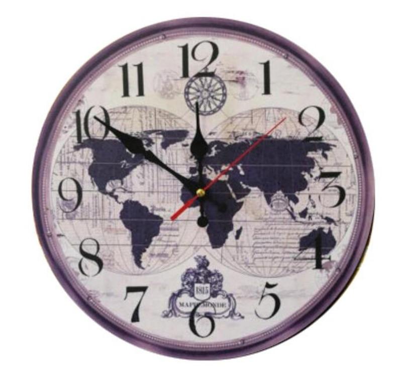 2126 5 De Réduction2018 Carte Du Monde Grande Horloge Murale Décorative Design Moderne Mode Silencieux Salle De Réunion Décoration Murale Horloge