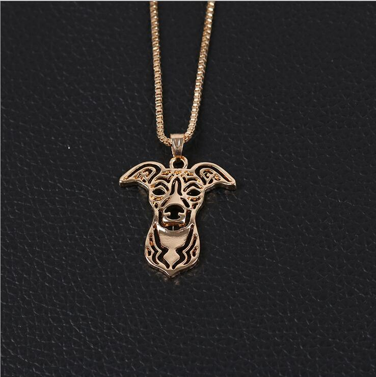 simple dog silver pendant necklace lovely dog 2016 hot sale animal charms for women gift metal simple girl
