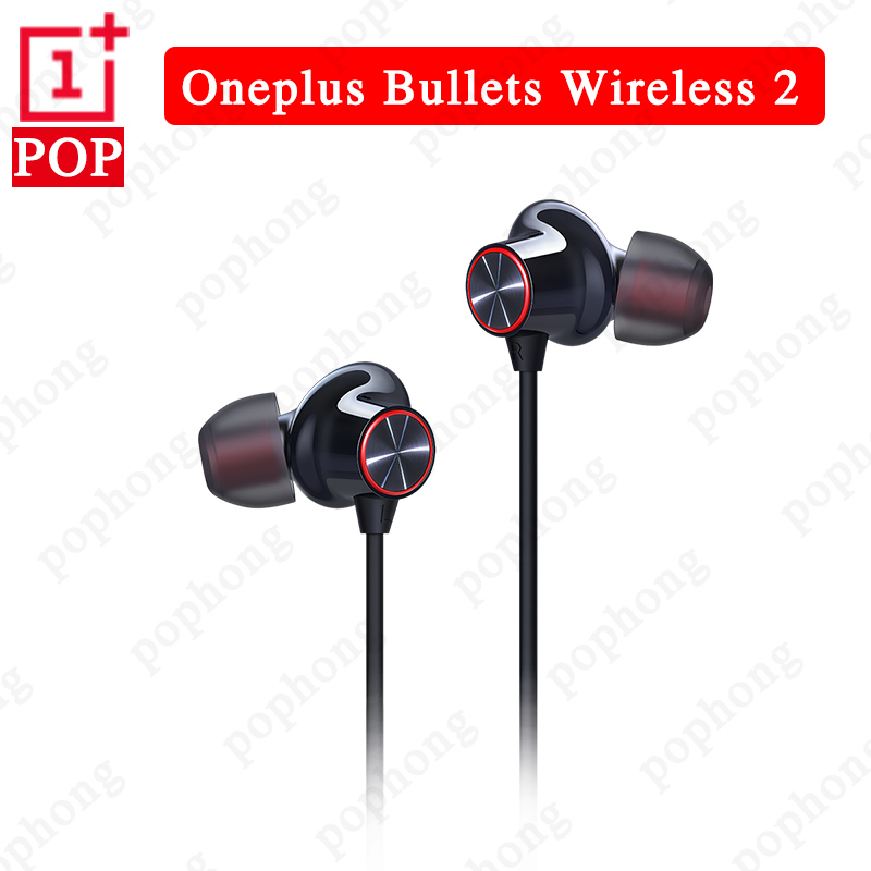 Original Oneplus Bullets Wireless 2 bluetooth headset Warp Charge Earphones OnePlus Bullets 2 Magnetic control For