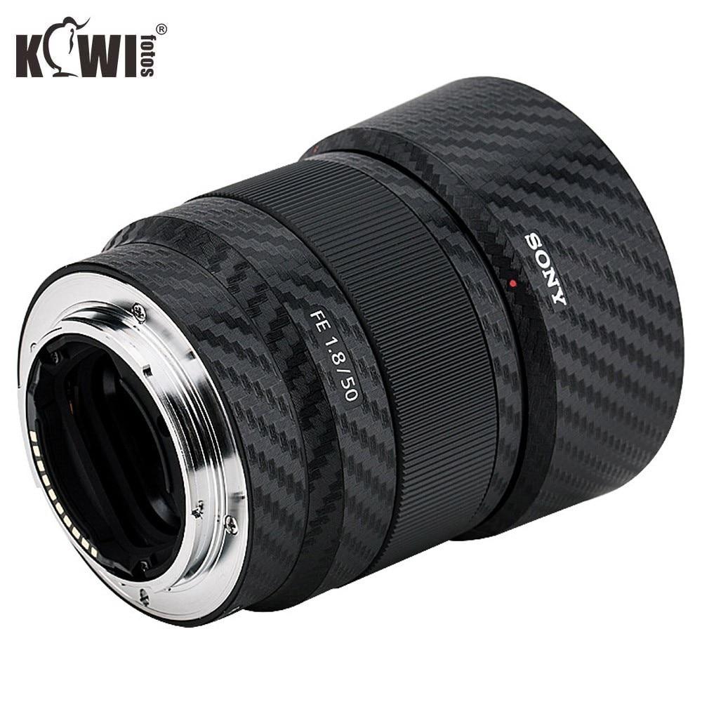 KIWIFOTOS KS-SEL50F18FCF Carbon Fiber Film  For Sony FE 50mm F/1.8 Lens Camera Decoration Lens Protection