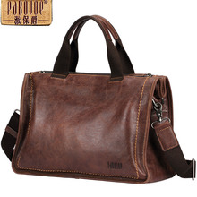 Pabojoe Briefcase Laptop Handbag Italian 100% Real Leather Messenger Business Bags for Men