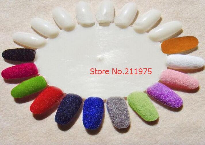 12 kleuren fluweel stroomden poeder set nail art decoratie polish - Nagel kunst - Foto 2