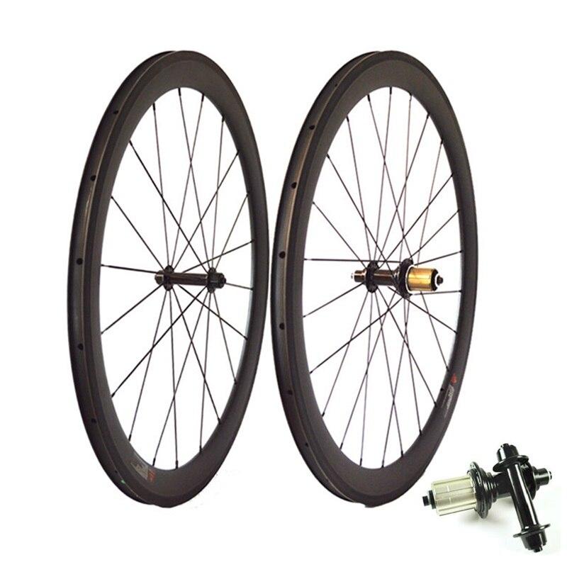 2018 roues de vélo 700C 23/25mm de large 38mm 50mm 60mm 88mm de profondeur tubulaire pneu R13 moyeu carbone vélo de route basalte roues de frein