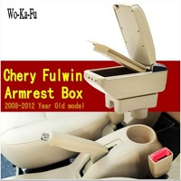 Car armrest central Store content Storage box with cup holder ashtray accessories for Chery A13 Very Celer fulwin 2 2008 2012