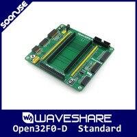 Kit Placa de Desenvolvimento Waveshare Open32F0-D STM32 Padrão para STM32F0DISCOVERY STM32F051R8T6 Full I/Os