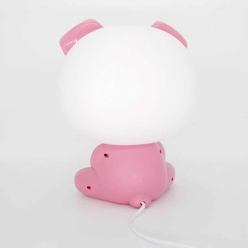 Современная свинка Led ЕС ночник для детей Детская спальня Рождественская Ночная лампа для детей комнаты прикроватные домашний декор осветительные приборы